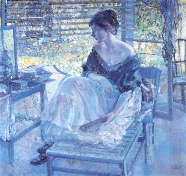 油絵 Richard Edward Miller_化粧台
