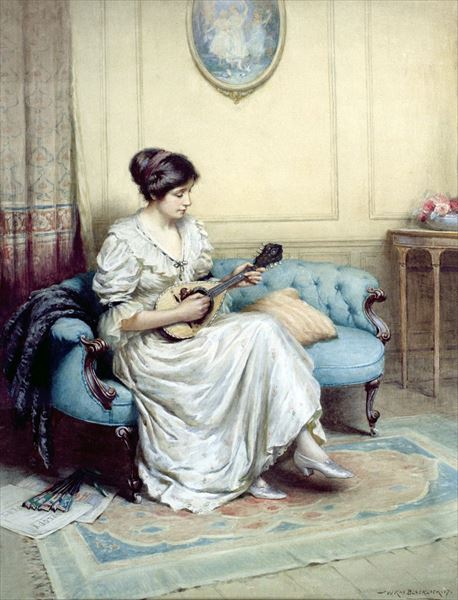 油絵 William Kay Blacklock_音楽