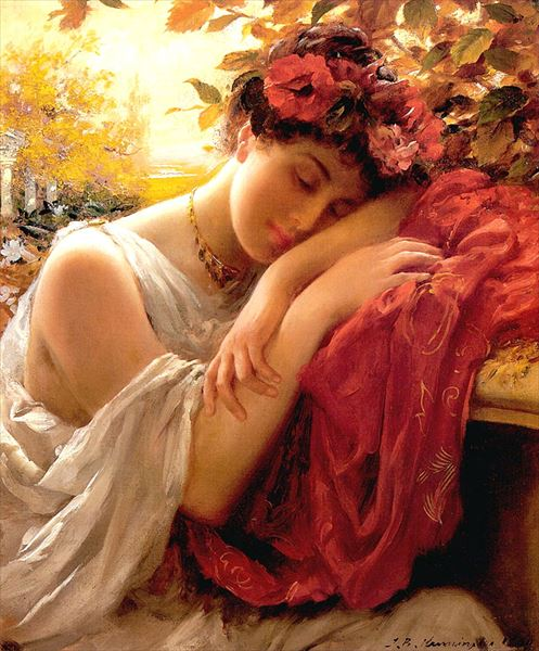 油絵 Thomas Benjamin Kennington_秋