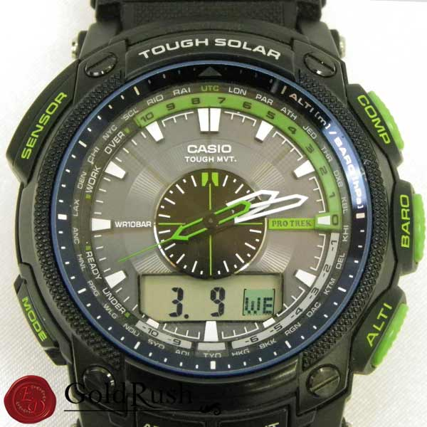 CASIO Casio proto Lec PRW-5000CA men clock multifunctional digital alarm solar stopwatch