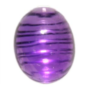 珍品♪疑似キャッツアイ☆天然アメジスト(紫水晶) カボッション ルース 3.41ct 《ov_180size》 【あす楽】 【sale-b】 【mtm】 【10P28Sep16】