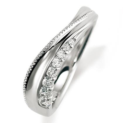 ペアリング(女性用) 結婚指輪 マリッジリング 結婚記念 プラチナ900 ダイヤモンドリング 《Nourish M0846L》 【刻印無料 ケース付き 送料無料】 【A】
