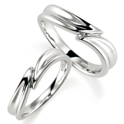 ペアリング(2本セット) 結婚指輪 マリッジリング 結婚記念 プラチナ900 《Nourish M0972》 【刻印無料 ケース付き 送料無料】 【0420】