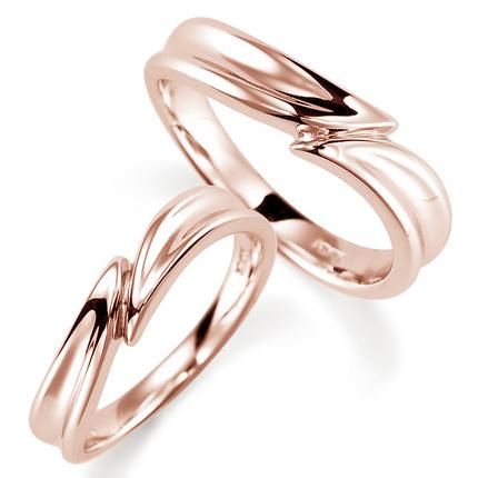 ペアリング(2本セット) 結婚指輪 マリッジリング 結婚記念 K18ピンクゴールド 《Nourish M0972》 【刻印無料 ケース付き 送料無料】 【A】