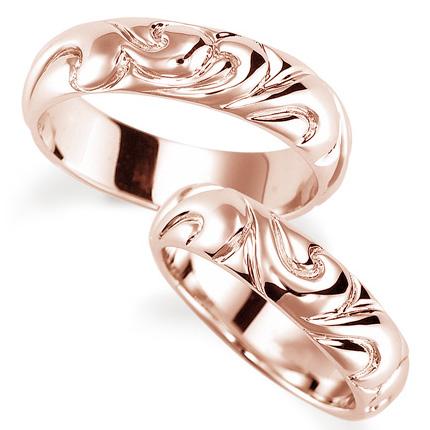 ペアリング(2本セット) 結婚指輪 マリッジリング 結婚記念 K18ピンクゴールド 《Nourish M0130》 【刻印無料 ケース付き 送料無料】 【A】