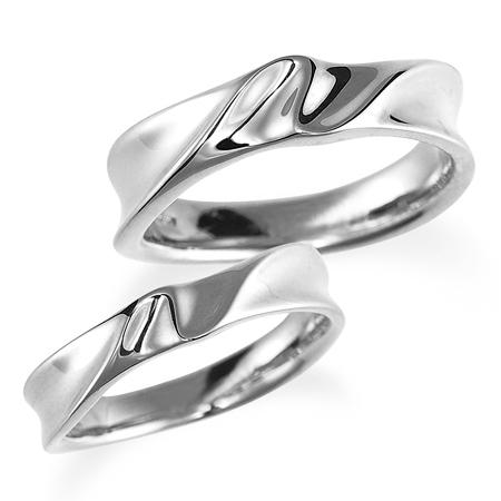 ペアリング(2本セット) 結婚指輪 マリッジリング 結婚記念 プラチナ900 《Nourish M0980》 【刻印無料 ケース付き 送料無料】 【A】