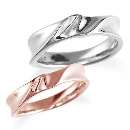 ペアリング(2本セット) 結婚指輪 マリッジリング 結婚記念 プラチナ900&K18ピンクゴールド 《Nourish M0980》 【刻印無料 ケース付き 送料無料】 【B】