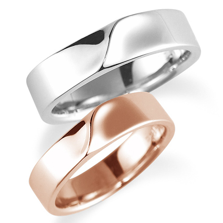 ペアリング(2本セット) 結婚指輪 マリッジリング 結婚記念 プラチナ900&K18ピンクゴールド 《Nourish M0210》 【刻印無料 ケース付き 送料無料】 【A】