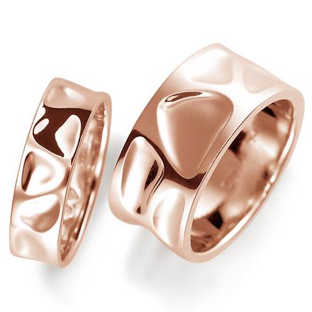 ペアリング(2本セット) 結婚指輪 マリッジリング 結婚記念 K18ピンクゴールド 《Nourish M0214》 【刻印無料 ケース付き 送料無料】 【A】