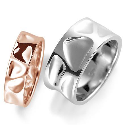 ペアリング(2本セット) 結婚指輪 マリッジリング 結婚記念 プラチナ900&K18ピンクゴールド 《Nourish M0214》 【刻印無料 ケース付き 送料無料】 【A】