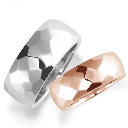 ペアリング(2本セット) 結婚指輪 マリッジリング 結婚記念 K18ピンク&ホワイトゴールド 《Nourish M0212》 【刻印無料 ケース付き 送料無料】 【532P17Sep16】