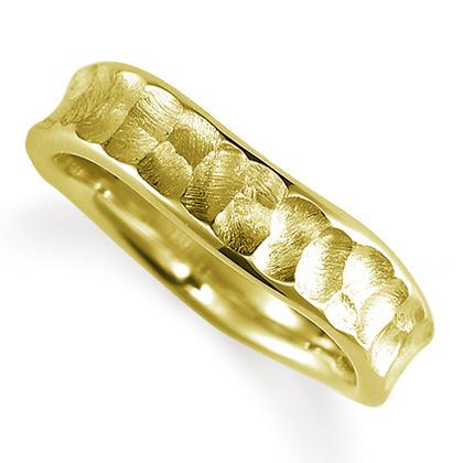 ペアリング(女性用) 結婚指輪 マリッジリング 結婚記念 K18イエローゴールド 《Nourish M0089L》 【刻印無料 ケース付き 送料無料】 【B】