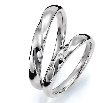 ペアリング(2本セット) 結婚指輪 マリッジリング 結婚記念 プラチナ900 《Prime M0059》 ダイヤモンドリング ギフト 【刻印無料ケース付き 送料無料】 【A】