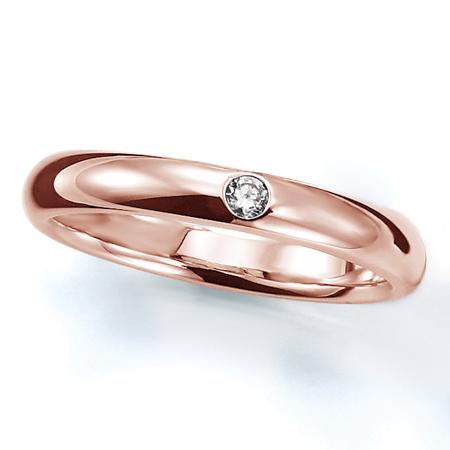 ペアリング(女性用) 結婚指輪 マリッジリング 結婚記念 K18ピンクゴールド ダイヤモンドリング 《Prime M0016L》 【刻印無料 ケース付き 送料無料】 【A】