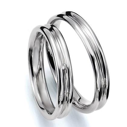 ペアリング(2本セット) 結婚指輪 マリッジリング 結婚記念 プラチナ900 《Prime M0035》 ダイヤモンドリング ギフト 【刻印無料 ケース付き 送料無料】 【A】