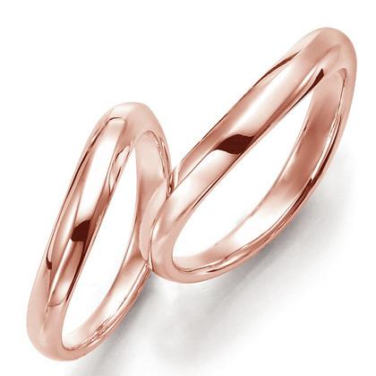 ペアリング(2本セット) 結婚指輪 マリッジリング 結婚記念 K18ピンクゴールド 《Prime M0093》 ギフト 【刻印無料 ケース付き 送料無料】 【A】
