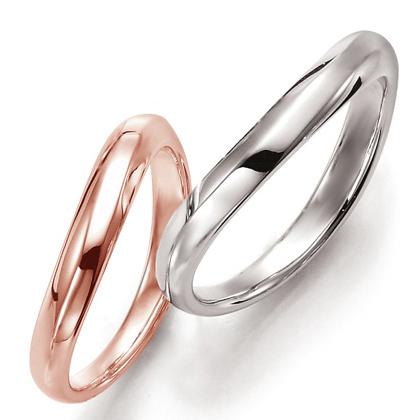 ペアリング(2本セット) 結婚指輪 マリッジリング 結婚記念 プラチナ900&K18ピンクゴールド 《Prime M0093》 ギフト 【刻印無料 ケース付き 送料無料】