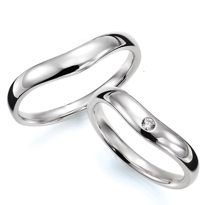 ペアリング(2本セット) 結婚指輪 マリッジリング 結婚記念 プラチナ900 《Prime M0033》 ダイヤモンドリング ギフト 【刻印無料ケース付き 送料無料】 【B】