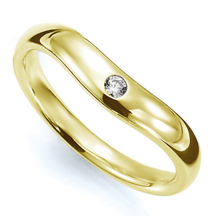 ペアリング(女性用) 結婚指輪 マリッジリング 結婚記念 K18イエローゴールド ダイヤモンドリング 《Prime M0033L》 【刻印無料 ケース付き 送料無料】 【A】