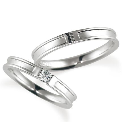 【送料無料/即納】  ペアリング(2本セット) 結婚指輪 婚約指輪 マリッジリング K18ホワイトゴールド ダイヤモンドリング 0.1ct 《Proud M1004》 【刻印無料 ケース付き 送料無料】 【RCP】【514】, アトリエYancy 6cb4ac02