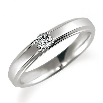 ペアリング(女性用) 結婚指輪 婚約指輪 マリッジリング プラチナ900 ダイヤモンドリング 0.1ct 《Proud M1037L》 【刻印無料 ケース付き 送料無料】 【B】