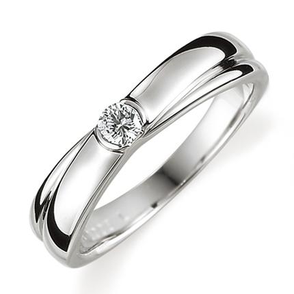 ペアリング(女性用) 結婚指輪 婚約指輪 マリッジリング プラチナ900 ダイヤモンドリング 0.1ct 《Proud M1008L》 【刻印無料 ケース付き 送料無料】 【A】