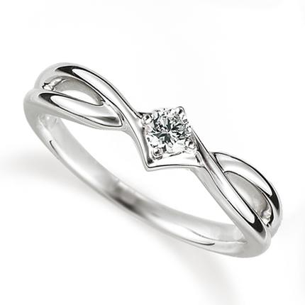 ペアリング(女性用) 結婚指輪 婚約指輪 マリッジリング プラチナ900 ダイヤモンドリング 0.1ct 《Proud M1035L》 【刻印無料 ケース付き 送料無料】 【A】