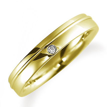 マリッジリング K18イエローゴールド M0886L》 ダイヤモンドリング 送料無料】 ケース付き 結婚指輪 鍛造製法 ペアリング(女性用) 《Solid 【刻印無料