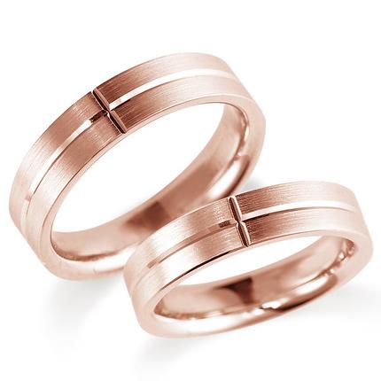 ペアリング(2本セット) 結婚指輪 マリッジリング 鍛造製法 K18ピンクゴールド 《Solid M0900WR》 【刻印無料 ケース付き 送料無料】 【A】