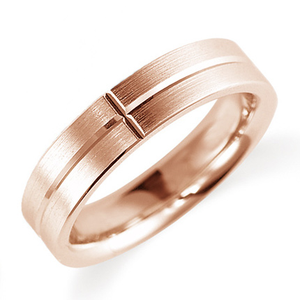 ペアリング(女性用) 結婚指輪 マリッジリング 鍛造製法 K18ピンクゴールド 《Solid M0900L》 【刻印無料 ケース付き 送料無料】 【A】
