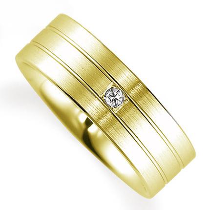ペアリング(女性用) 結婚指輪 マリッジリング 鍛造製法 K18イエローゴールド ダイヤモンドリング 《Solid M0592L》 【刻印無料 ケース付き 送料無料】 【A】