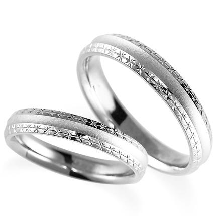 ペアリング(2本セット) 結婚指輪 マリッジリング 鍛造製法 プラチナ900 《Solid M2075WR》 【刻印無料 ケース付き 送料無料】 【B】