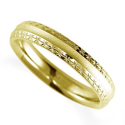 ペアリング(女性用) 結婚指輪 マリッジリング 鍛造製法 K18イエローゴールド 《Solid M2075L》 【刻印無料 ケース付き 送料無料】 【0420】
