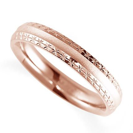 ペアリング(女性用) 結婚指輪 マリッジリング 鍛造製法 K18ピンクゴールド 《Solid M2075L》 【刻印無料 ケース付き 送料無料】 【0420】
