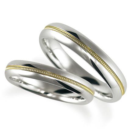 ペアリング(2本セット) 結婚指輪 マリッジリング 鍛造製法 ミル打ち加工 プラチナ900 《Solid M2079WR》 【刻印無料 ケース付き 送料無料】 【B】