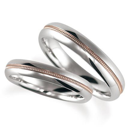 ペアリング(2本セット) 結婚指輪 マリッジリング 鍛造製法 ミル打ち加工 プラチナ900 《Solid M2079WR》 【刻印無料 ケース付き 送料無料】 【A】