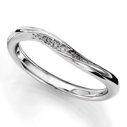 ペアリング(女性用) 結婚指輪 マリッジリング 結婚記念 プラチナ900 ダイヤモンドリング 《sympho M0911L》 【刻印無料 ケース付き 送料無料】 【A】