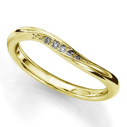 ペアリング(女性用) 結婚指輪 マリッジリング 結婚記念 K18イエローゴールド ダイヤモンドリング 《sympho M0911L》 【刻印無料 ケース付き 送料無料】 【A】