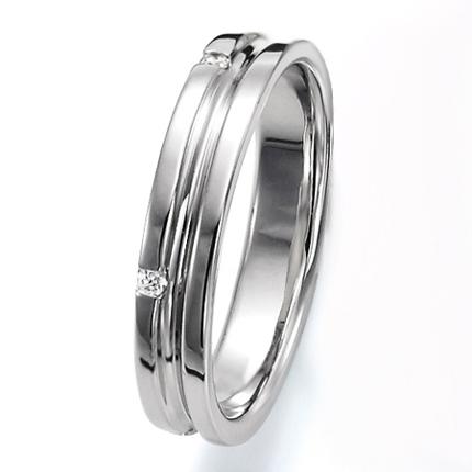 ペアリング(女性用) 結婚指輪 マリッジリング 結婚記念 プラチナ900 ダイヤモンドリング 《Wish M0251L》 【刻印無料 ケース付き 送料無料】 【A】