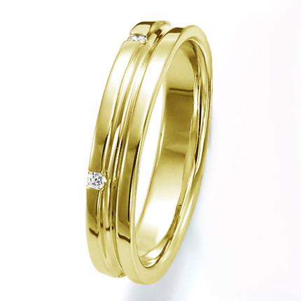 ペアリング(女性用) 結婚指輪 マリッジリング 結婚記念 K18イエローゴールド ダイヤモンドリング 《Wish M0251L》 【刻印無料 ケース付き 送料無料】 【A】