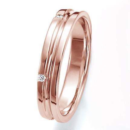 ペアリング(女性用) 結婚指輪 マリッジリング 結婚記念 K18ピンクゴールド ダイヤモンドリング 《Wish M0251L》 【刻印無料 ケース付き 送料無料】 【A】