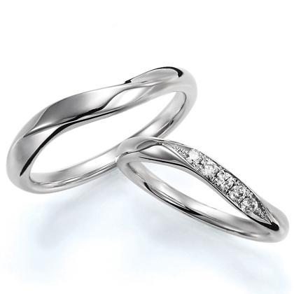 ペアリング(2本セット) 結婚指輪 マリッジリング 結婚記念 プラチナ900 《Wish M0388》 ダイヤモンドリング ギフト 【刻印無料 ケース付き 送料無料】 【B】