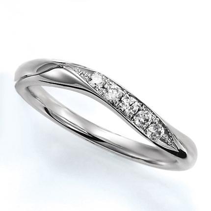 ペアリング(女性用) 結婚指輪 マリッジリング 結婚記念 プラチナ900 ダイヤモンドリング 《Wish M0388L》 【刻印無料 ケース付き 送料無料】 【A】