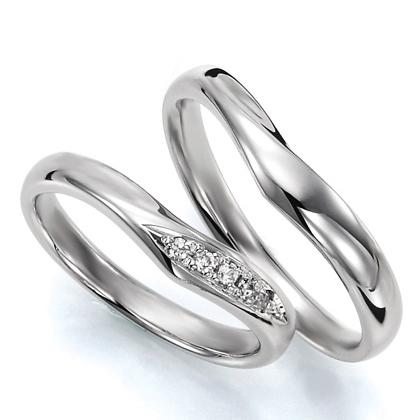 ペアリング(2本セット) 結婚指輪 マリッジリング 結婚記念 プラチナ900 《Wish M0036》 ダイヤモンドリング ギフト 【刻印無料 ケース付き 送料無料】 【A】