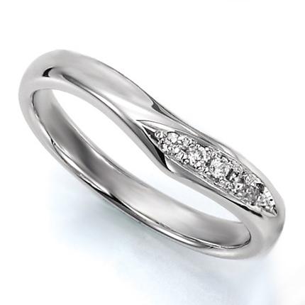 ペアリング(女性用) 結婚指輪 マリッジリング 結婚記念 プラチナ900 ダイヤモンドリング 《Wish M0036L》 【刻印無料 ケース付き 送料無料】 【A】