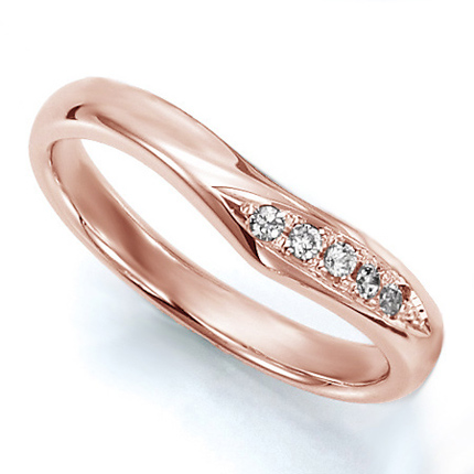 ペアリング(女性用) 結婚指輪 マリッジリング 結婚記念 K18ピンクゴールド ダイヤモンドリング 《Wish M0036L》 【刻印無料 ケース付き 送料無料】 【A】