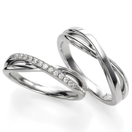 ペアリング(2本セット) 結婚指輪 マリッジリング 結婚記念 プラチナ900 《Wish M0090》 ダイヤモンドリング ギフト 【刻印無料 ケース付き 送料無料】 【0420】