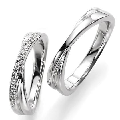 ペアリング(2本セット) 結婚指輪 マリッジリング 結婚記念 プラチナ900 《Wish M0857》 ダイヤモンドリング ギフト 【刻印無料 ケース付き 送料無料】 【0420】