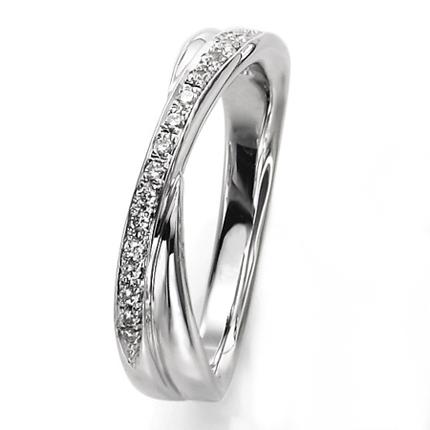 ペアリング(女性用) 結婚指輪 マリッジリング 結婚記念 プラチナ900 ダイヤモンドリング 《Wish M0857L》 【刻印無料 ケース付き 送料無料】 【A】