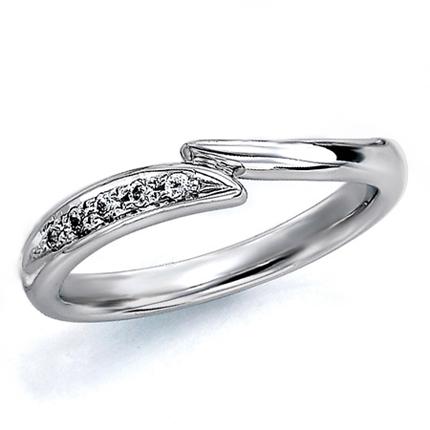 ペアリング(女性用) 結婚指輪 マリッジリング 結婚記念 プラチナ900 ダイヤモンドリング 《Wish M0181L》 【刻印無料 ケース付き 送料無料】 【A】